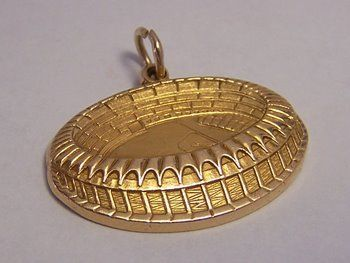 14K Gold Vintage Charm ~ Busch Memorial Stadium ~ Cardinal's Baseball Field