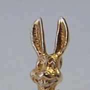 14K Gold Vintage Charm ~ Figural Rabbit ~ Movable