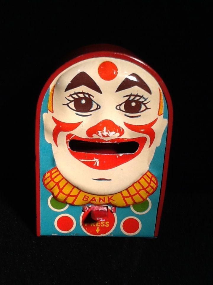 Mechanical Small Clown Bank