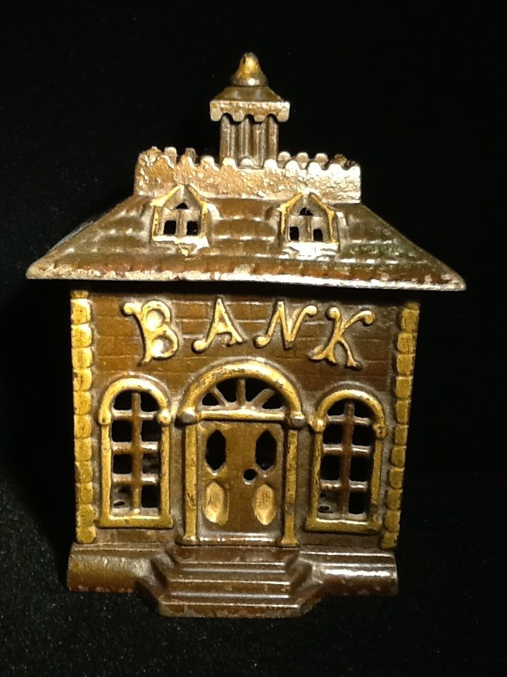 Bank Bank- Cast Iron Penny Bank