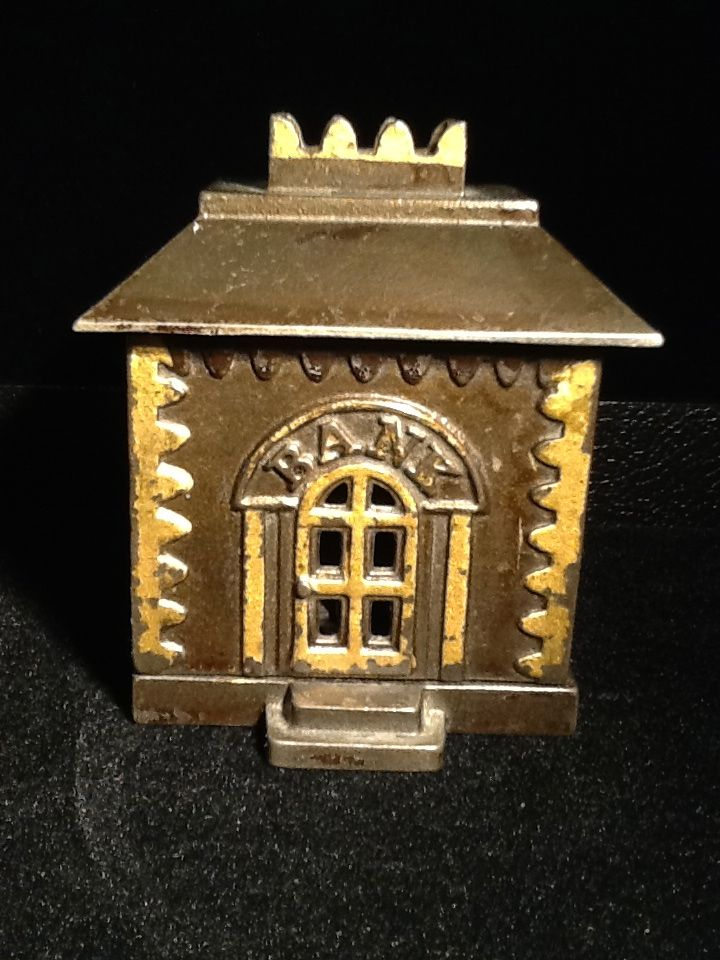 Cast Iron Crown Penny Bank