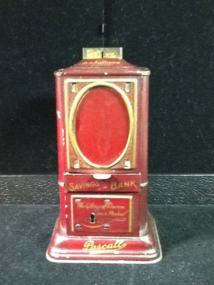 Pascalls Candy Savings Bank with Finial