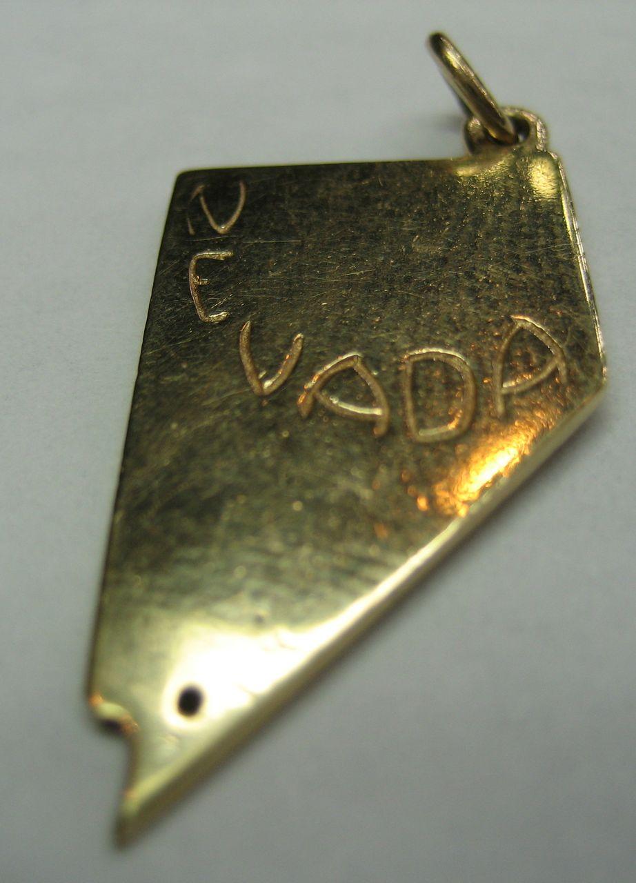 Vintage 14K Gold Nevada Charm