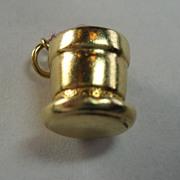 Vintage 10K Gold Flowerpot Charm