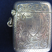 Vintage Sterling Lady's Match Safe/Vesta