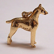 14K Gold Vintage Charm ~ GREAT DANE Dog