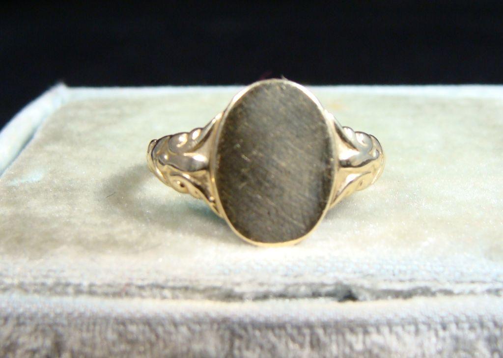 Vintage 14k Gold Signet Ring