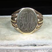 Vintage 14K Gold Man's Signet Ring