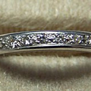 Deco 14K WG & Diamond Eternity Ring / Band