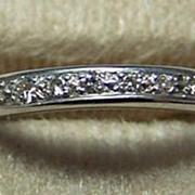 Deco 14K WG & Diamond Eternity Ring / Band