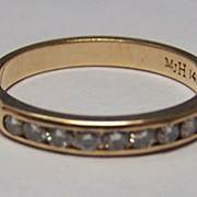 14K YG Diamond Ring / Wedding Band