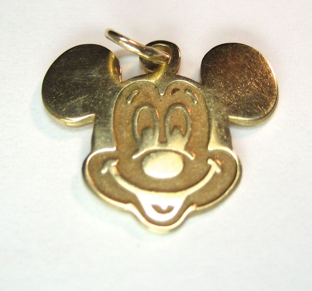 Vintage 14K Walt Disney Mickey Mouse Charm