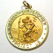 Vintage 14K Saint Christopher Charm
