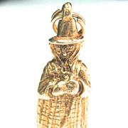 Vintage 9K Mother Goose Charm