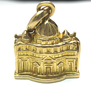 Vintage 18K Vatican Charm