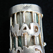 Vintage 14K Mad Money Cage Charm