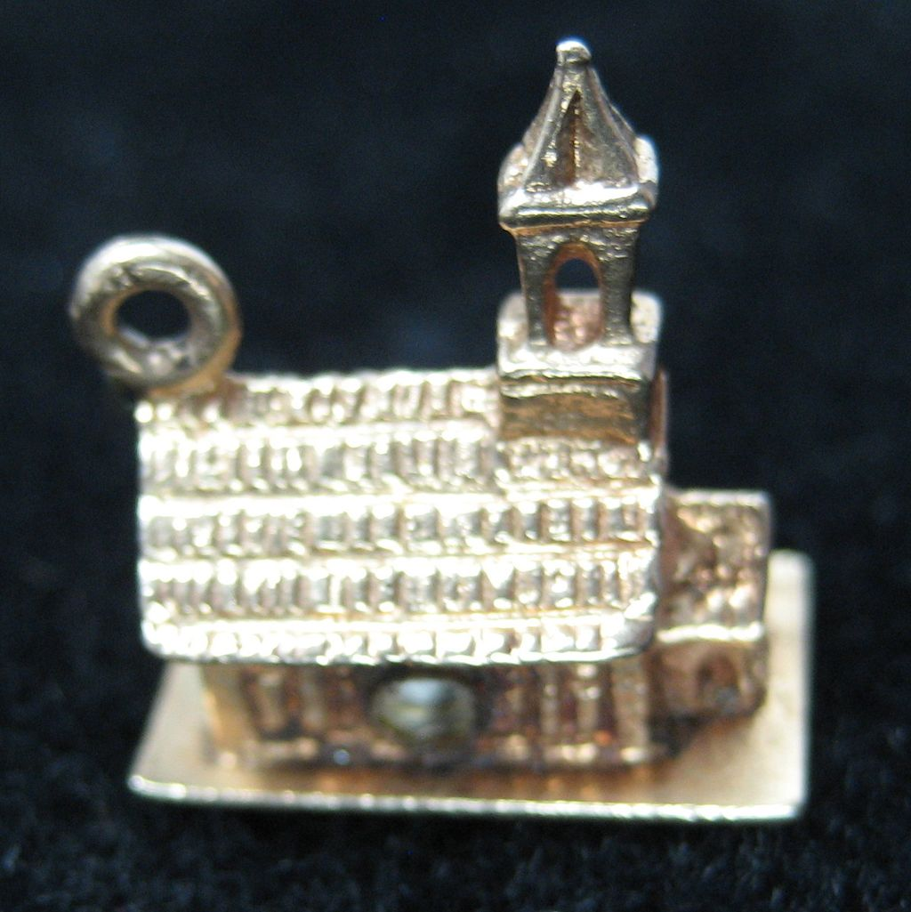 Vintage 14K Stanhope Church with Lord's Prayer Charm