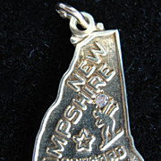 Vintage 14K State of New Hampshire Charm