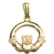 Vintage 9K Claddagh Ring Charm