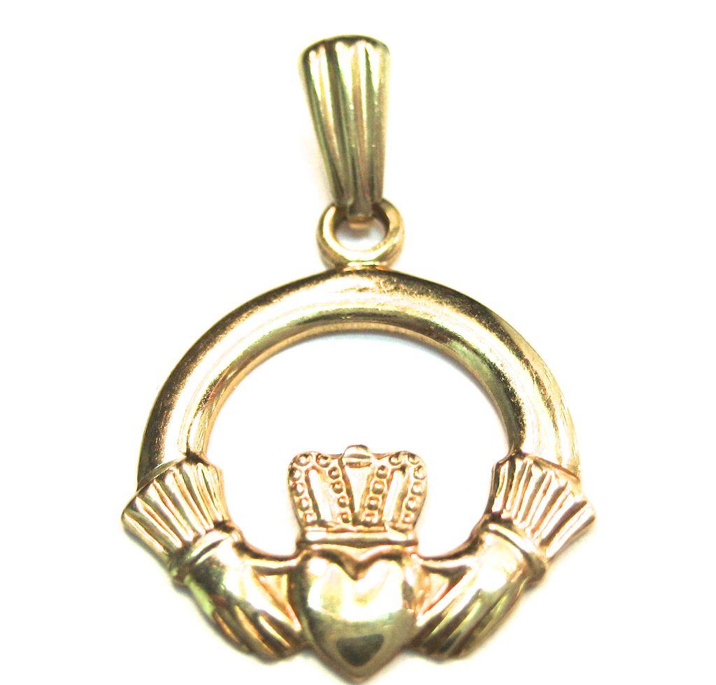 Vintage 9K Claddagh Ring Charm