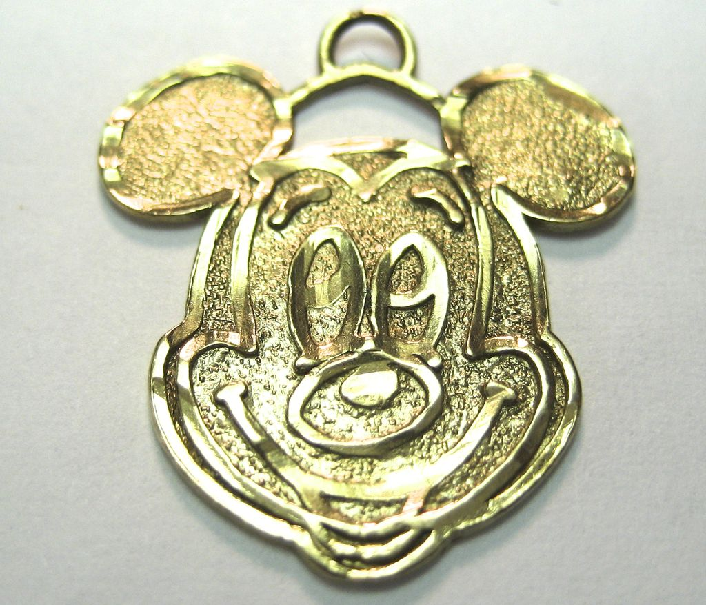 Vintage 10K Mickey Mouse Charm