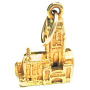 Vintage 9K Cathedral Charm