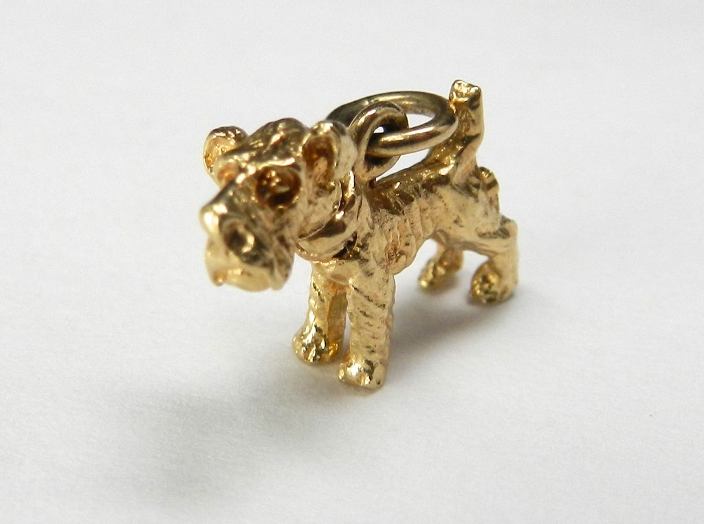 Vintage 10K Scottish Terrier with Moveable Head Charm