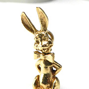 Vintage 14K Easter Bunny with Moveable Head Charm