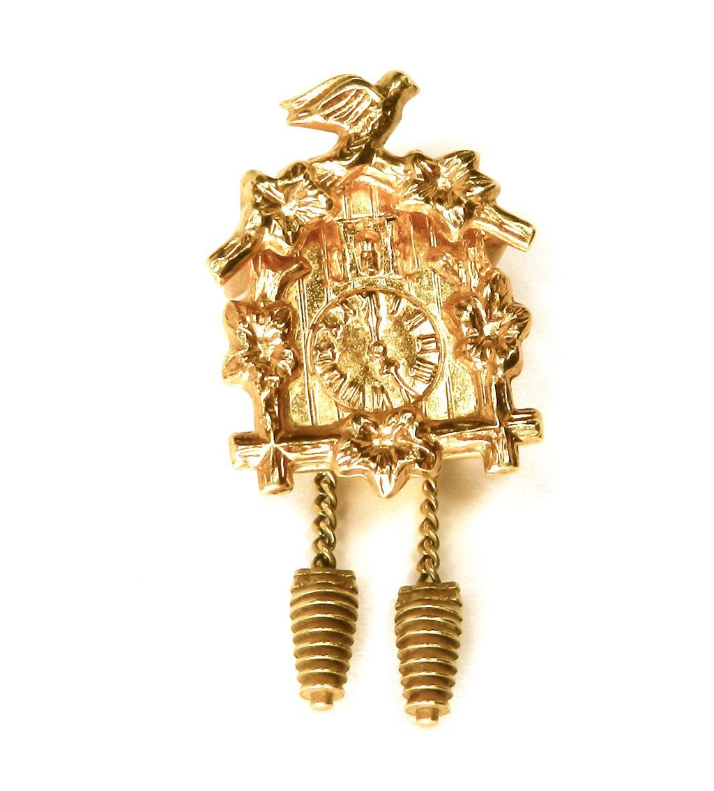 Vintage 14K Cuckoo Clock Moveable Charm