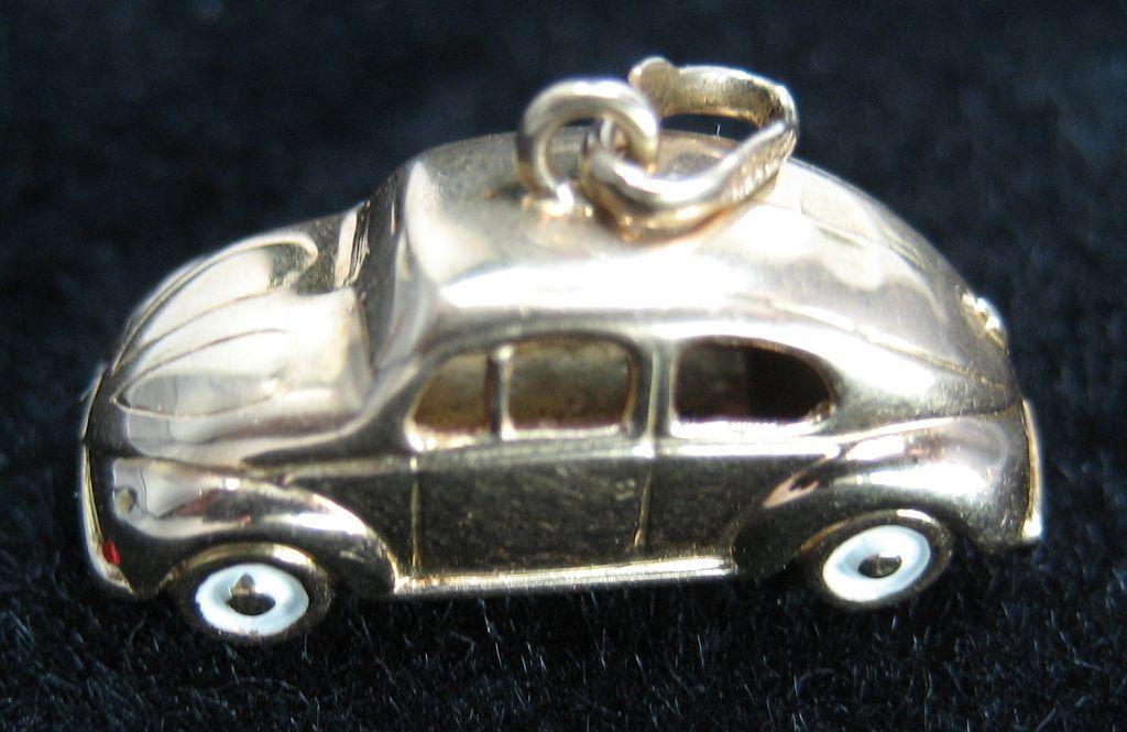 Vintage 14K Bug/Beetle Car Charm