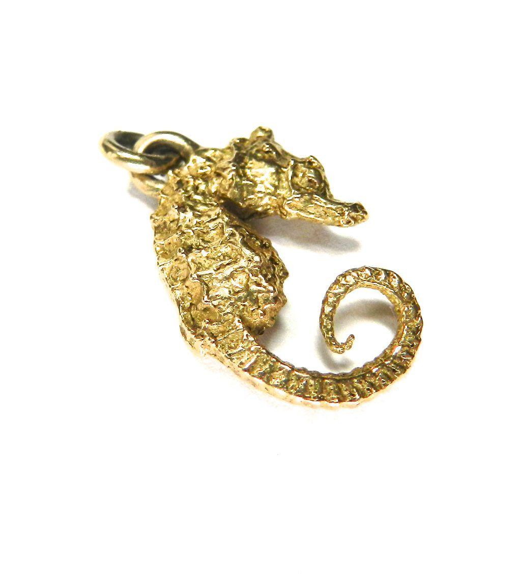 Vintage 14K Seahorse Charm