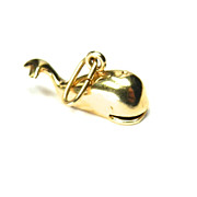 Vintage 14K Whale with Moveable Mouth Charm