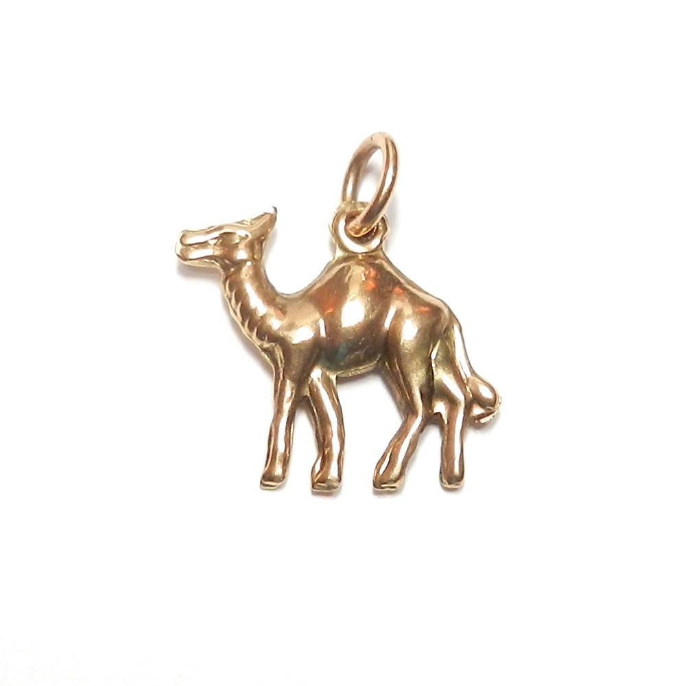 Vintage 14K Camel Charm
