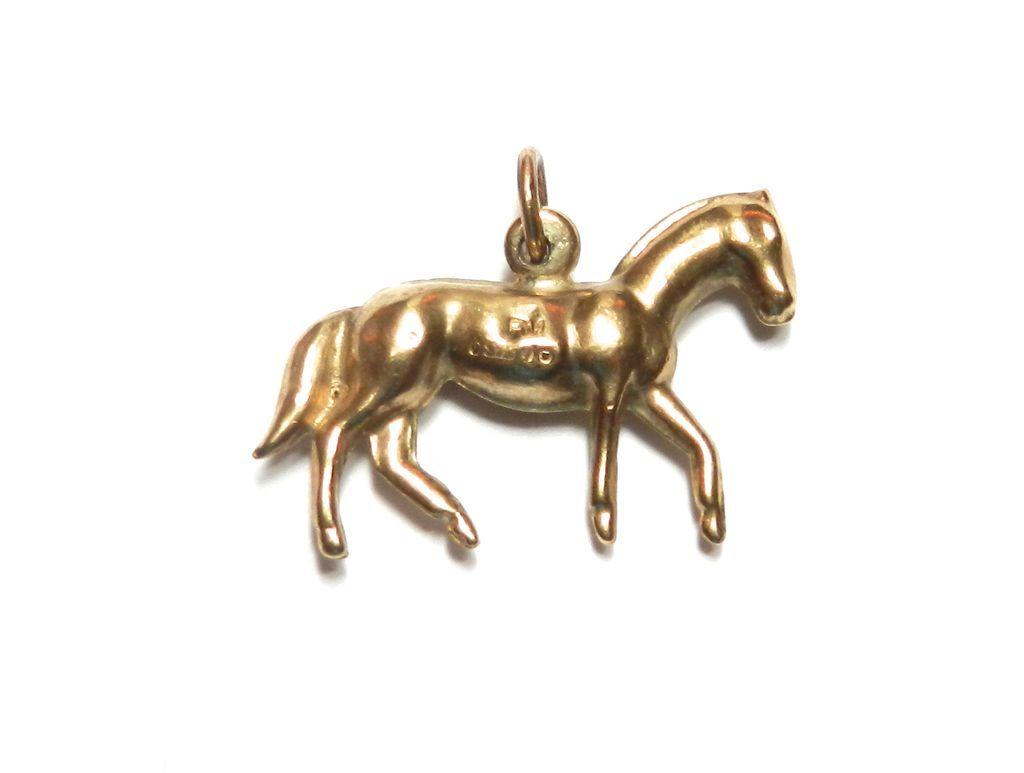 Vintage 9K Horse Charm