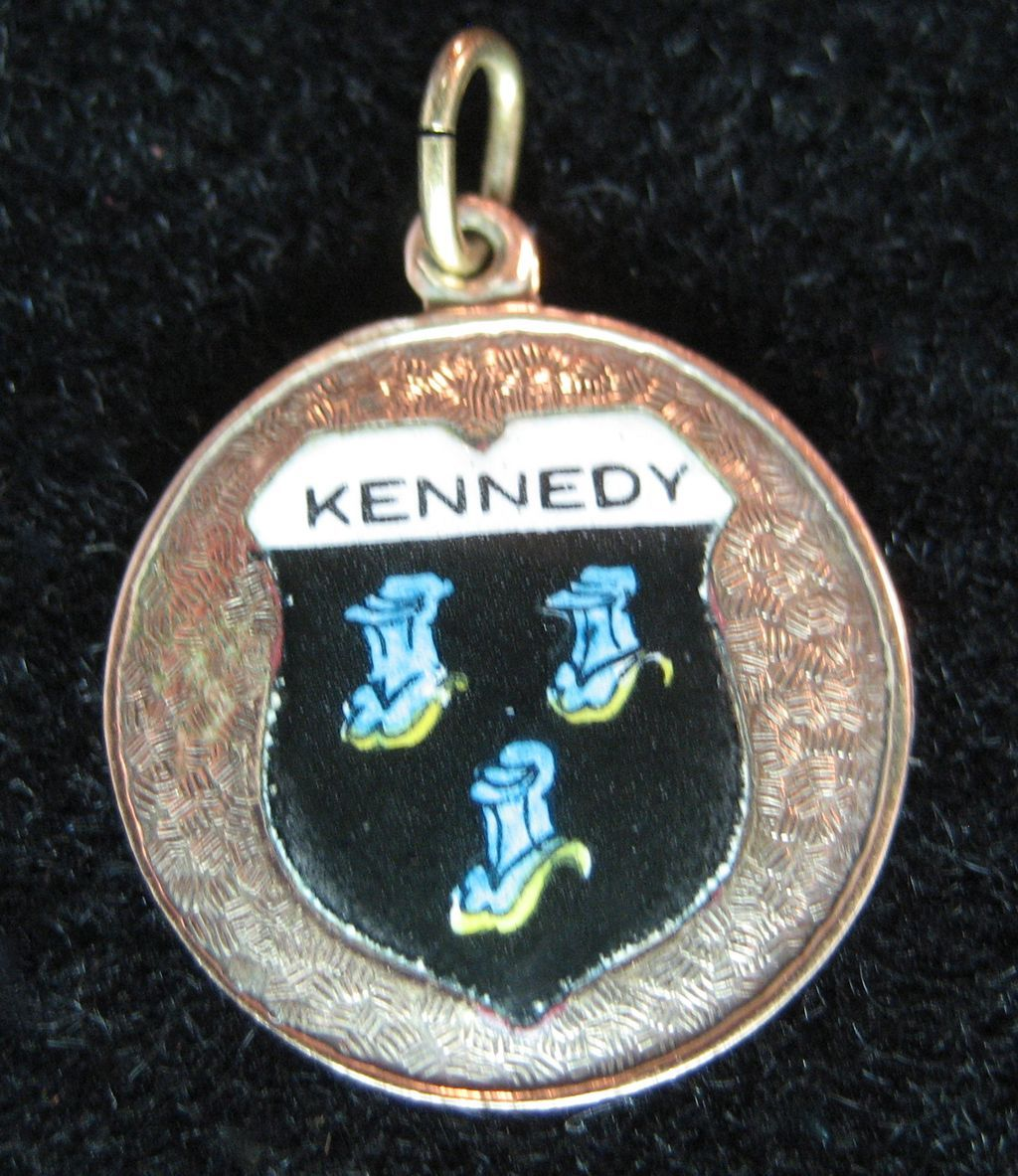 Vintage 9K Kennedy Family Coat of Arms Charm