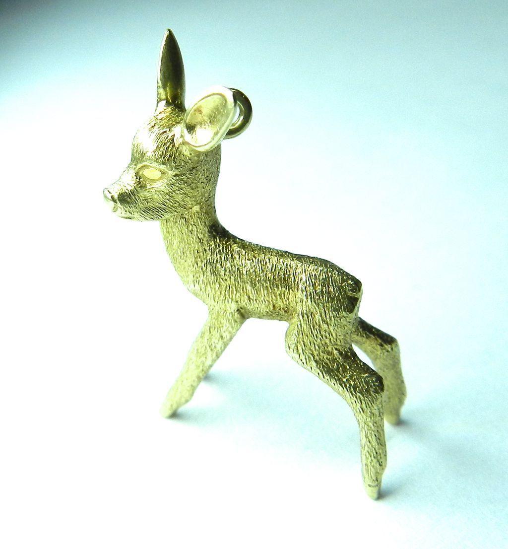 Vintage 14K Bambi/Doe Charm