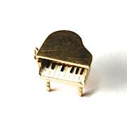 Vintage14K Piano Charm-Moveable