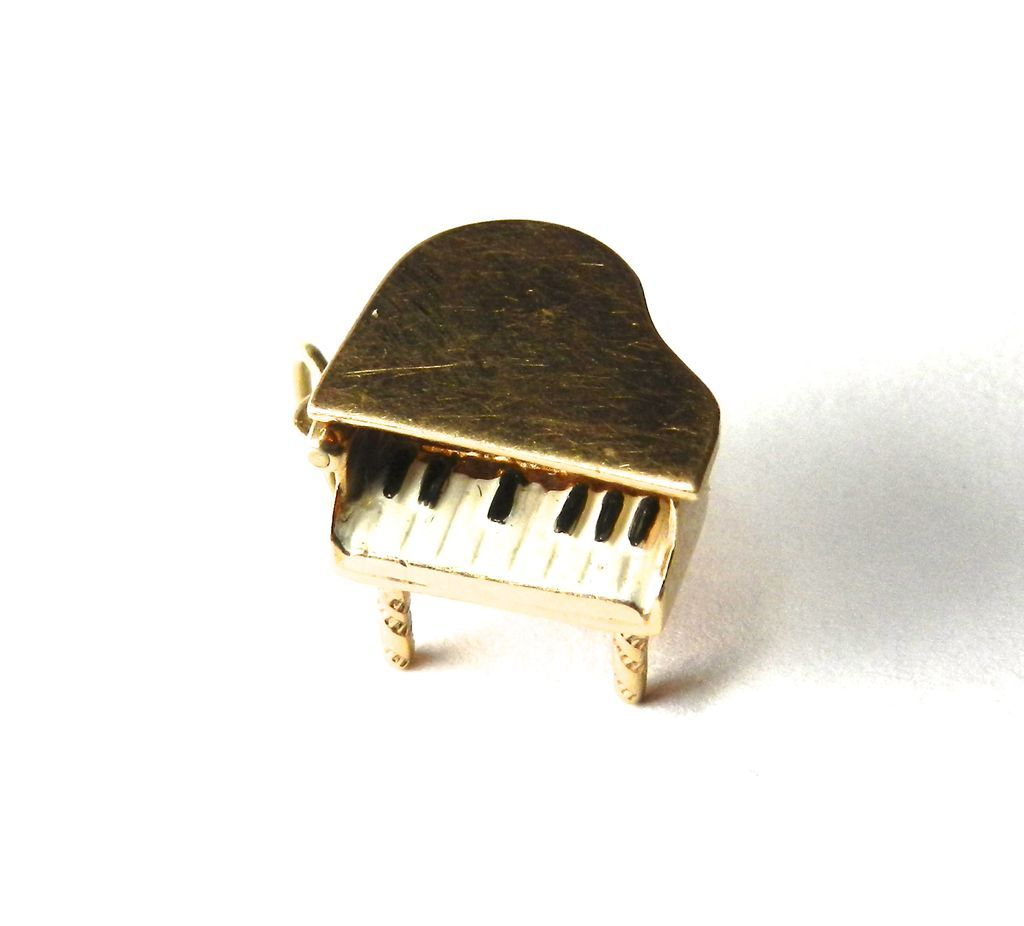 Vintage14K Piano Charm-Moveable