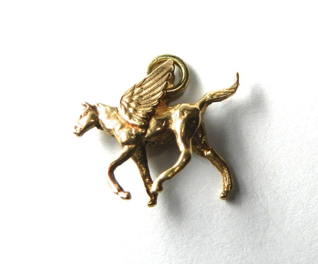Vintage 14K Pegasus Charm