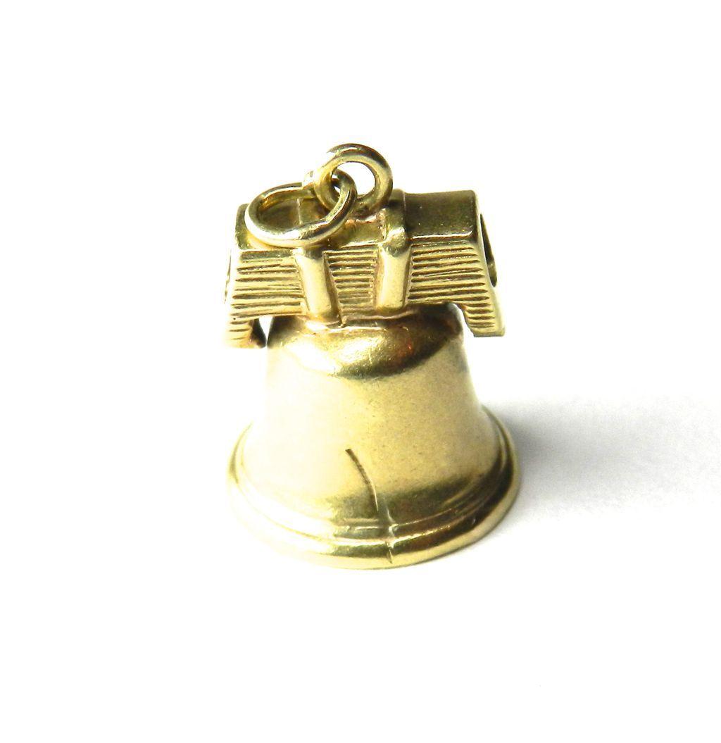 Vintage 14K Liberty Bell Charm