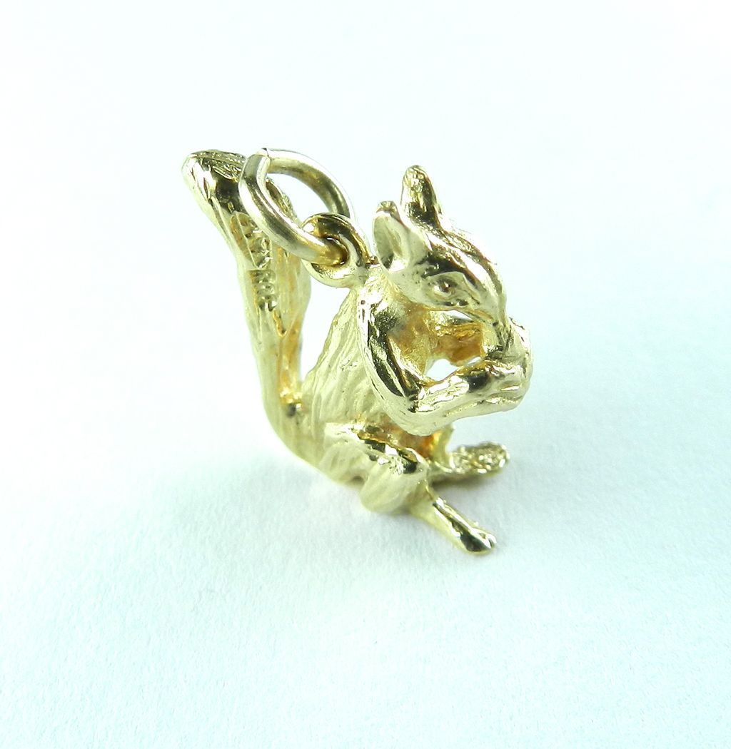 Vintage 14K Squirrel Charm