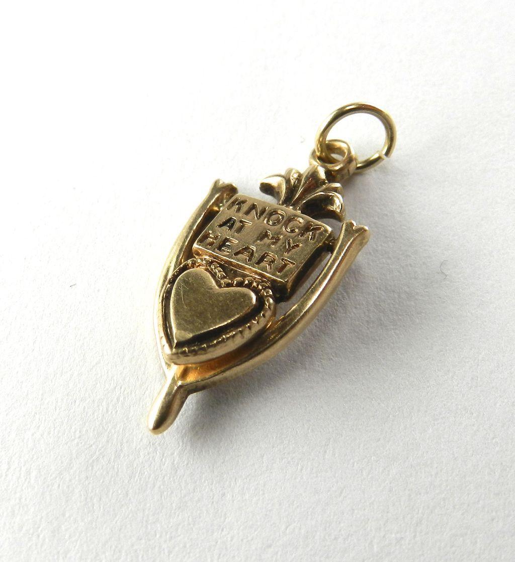 Vintage 14K Heart Door Knocker-Moveable
