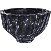 Orrefors Round Bowl with Swirl Pattern