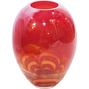 Evolution by Waterford Red and Amber Vase