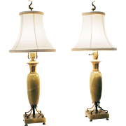Pair of Onyx Table Lamps