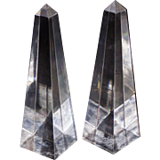 Pair of Vintage Lucite Obelisks