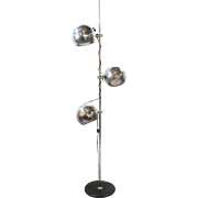 Mid-Century Modern Chrome Eyeball Floor Lamp