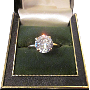 10 K gold faux diamond ring