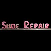 Vintage Art Deco Glo-Brite Pink Shoe Repair Sign