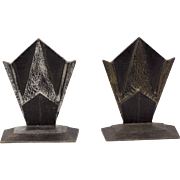 Vintage Art Deco Cast Metal Bookends